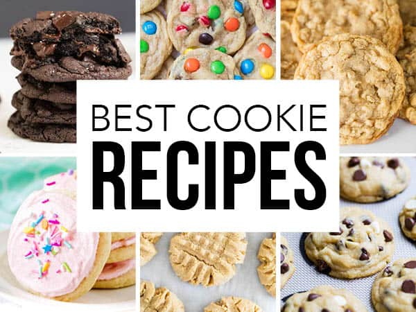 collage of cookie recipes