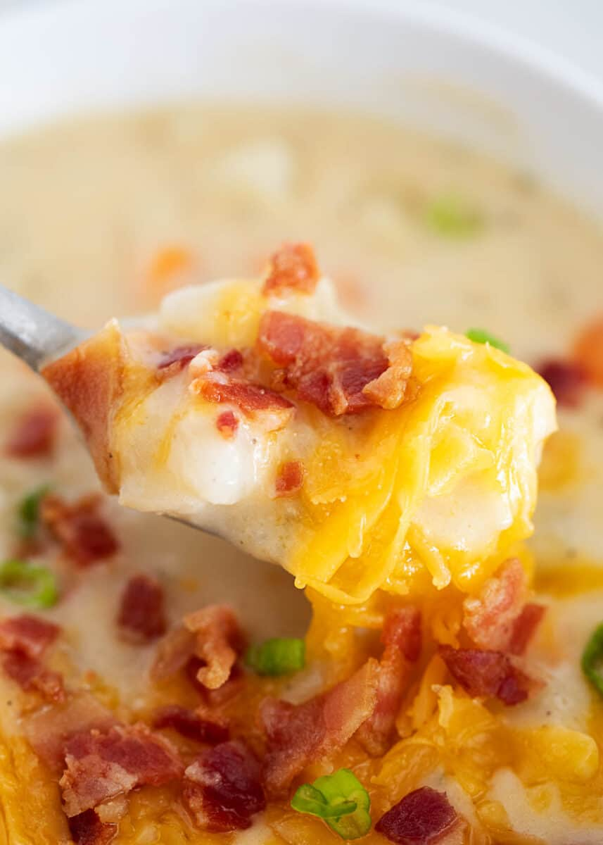 spoonful of loaded potato soup