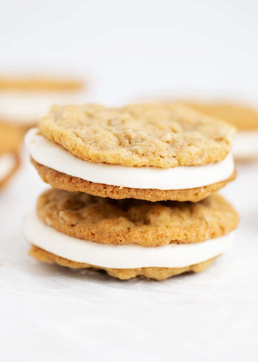 stacked oatmeal pie cookies