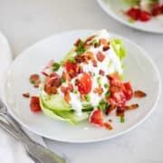 wedge salad on plate