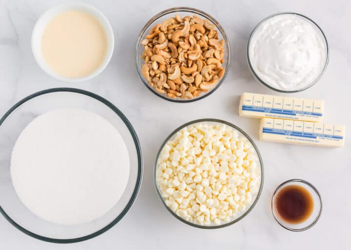 white fudge ingredients