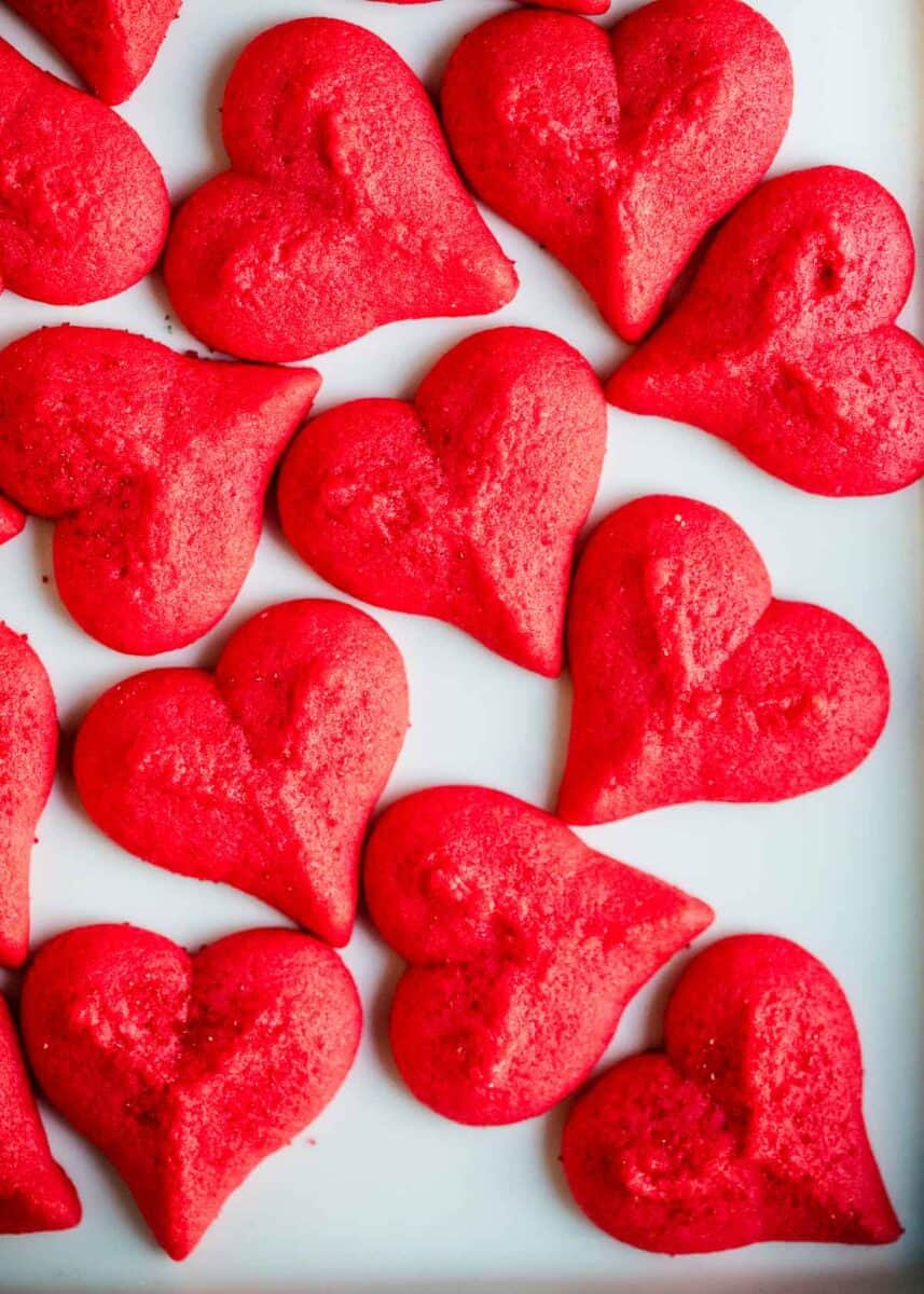 heart spritz cookies