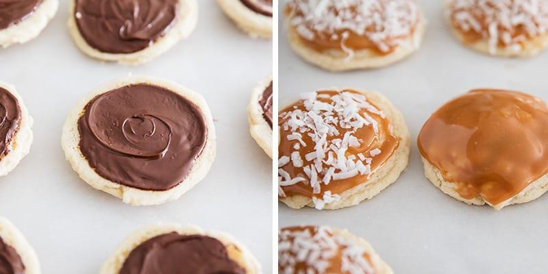caramel and chocolate cookies