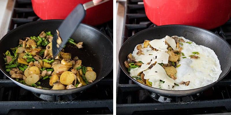 tavada yumurta beyazı omlet yapmak