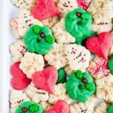christmas spritz cookies on plate