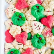 christmas spritz cookies on plate
