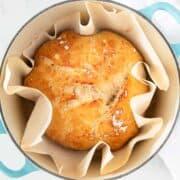 dutch oven bread in pan