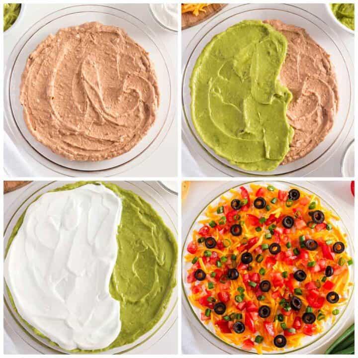 making 5 layer dip
