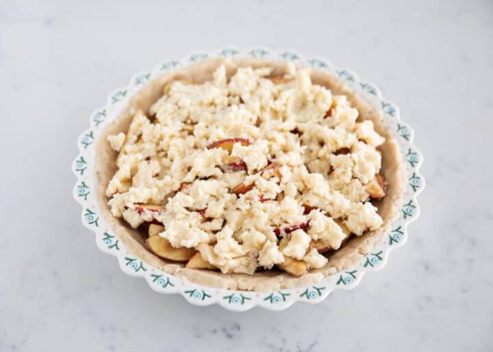 brown bag apple pie in pan