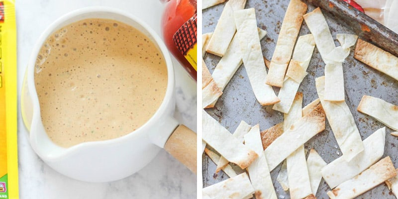 mexican salad dressing and tortilla strips