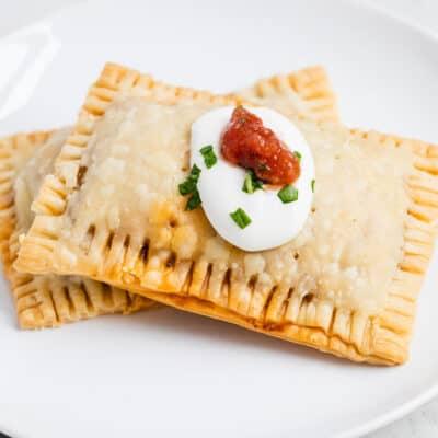taco pocket on white plate