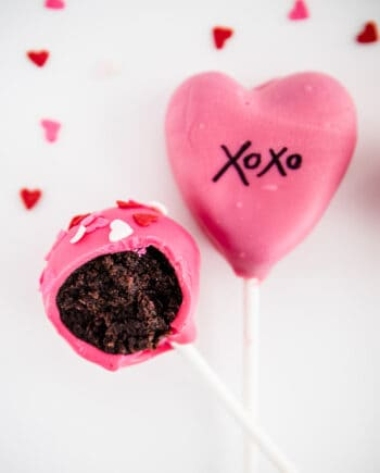 bite out of valentine cake pop