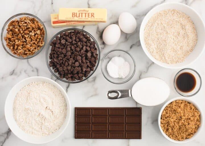 neiman marcus cookie ingredients on counter