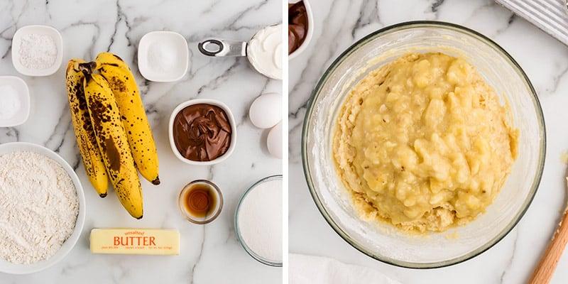 banana bread in bowl