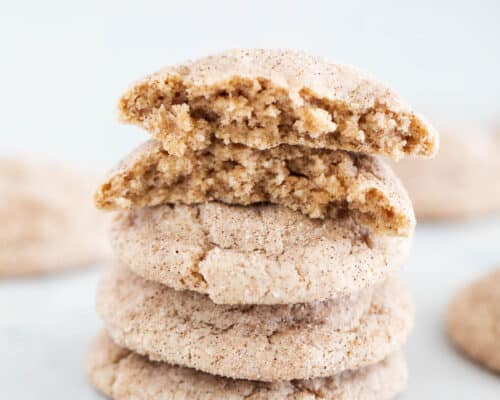 snickerdoodle cake mix cookies stacked