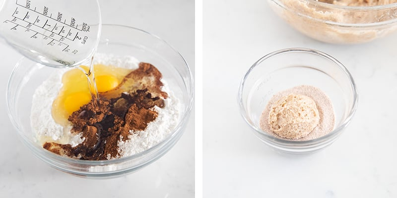 snickerdoodle cake mix cookies ingredients collage