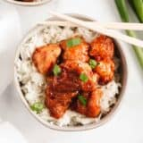 sweet and sour chicken and rice