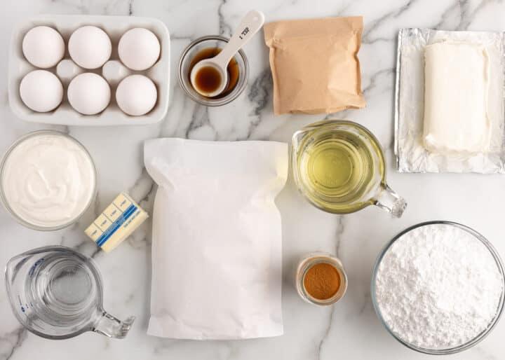 churro kek malzemeleri masada
