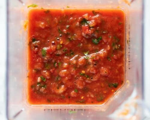 salsa in blender