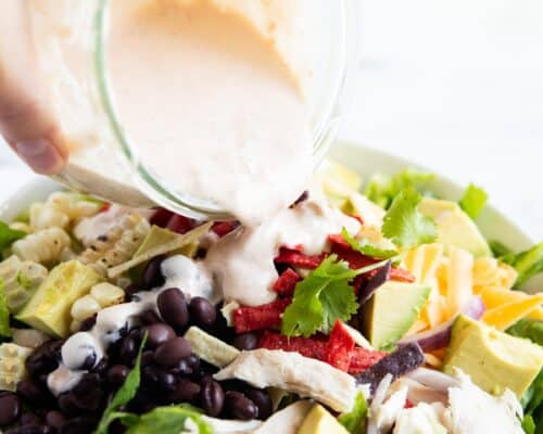 salsa ranch and salad