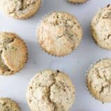 zucchini muffins on table