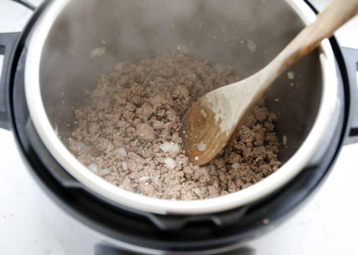 sautéing hamburger in instant pot