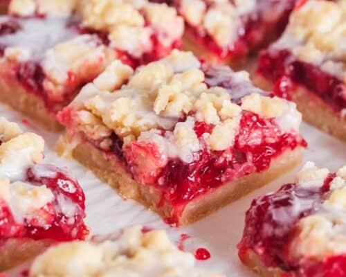sliced cherry pie bars