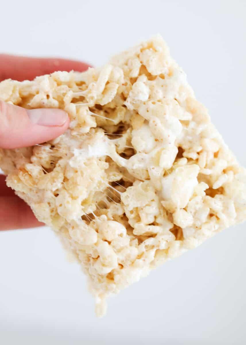 brown butter rice krispie treat