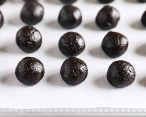 oreo balls on pan