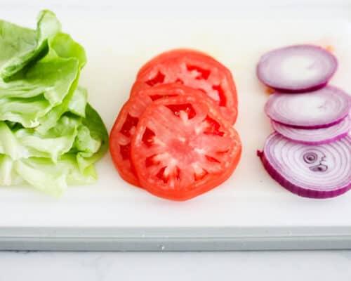 vegetable toppings for burger