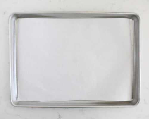 parchment paper on pan