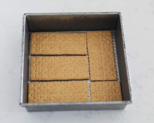 graham cracker in pan