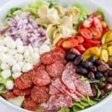 antipasto salad in bowl