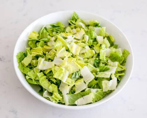 lettuce in white bowl