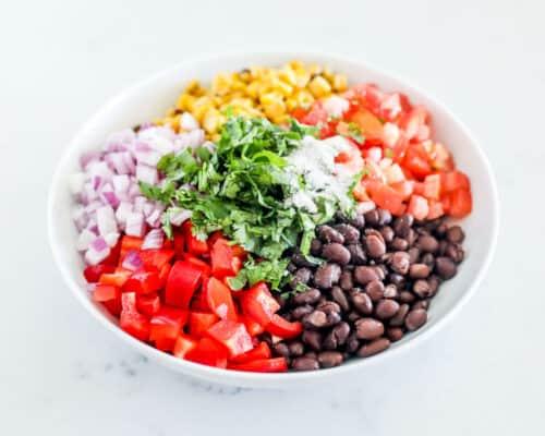 black bean salsa in bowl