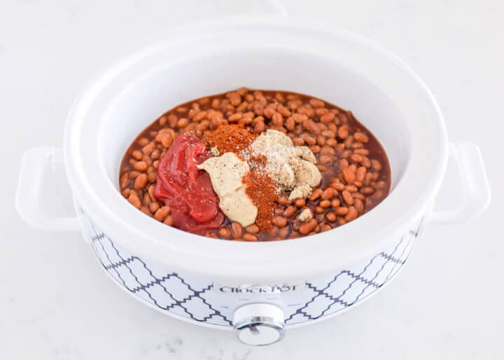 baked beans ingredients in crockpot
