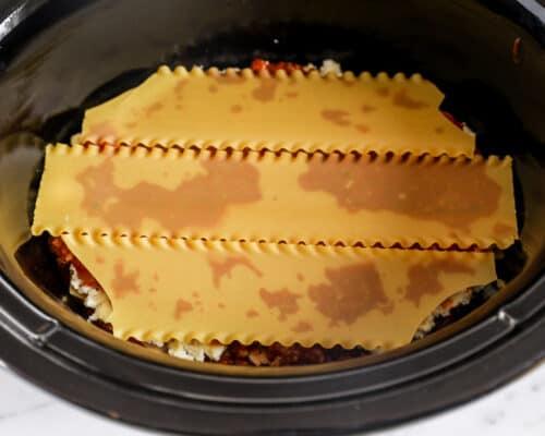 lasagna noodles in crockpot