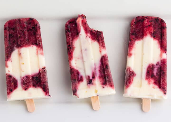 popsicles on white plate