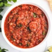 roasted salsa in a bowl