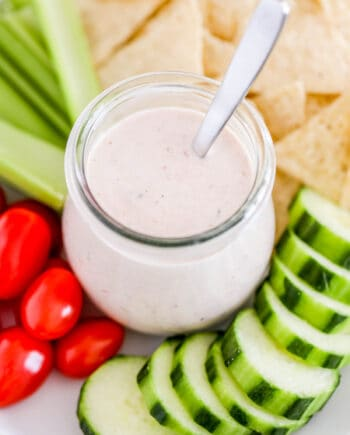 salsa ranch with vegetables