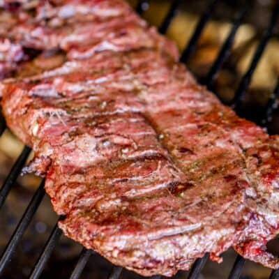 skirt steak on grill