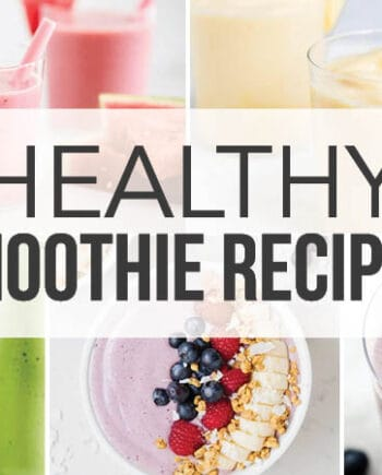 collage of healthy smoothies