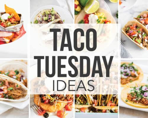 collage of taco tuesday recipes