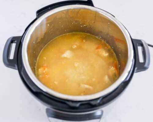 broth in instant pot