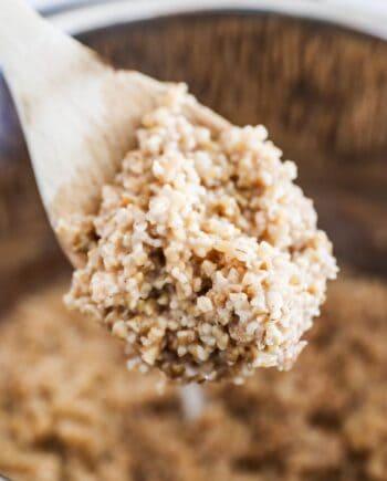 spoonful of steel cut oats