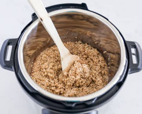 instant pot with steel cut oats