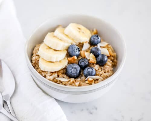 bowl of steel cut oats with fruit