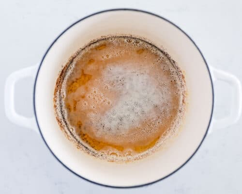 brown butter in pan