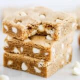 stack of brown butter blondies