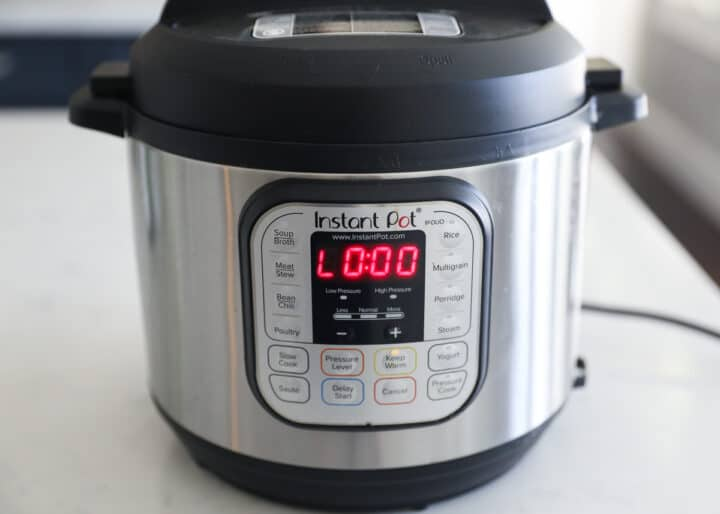 instant pot sitting on counter